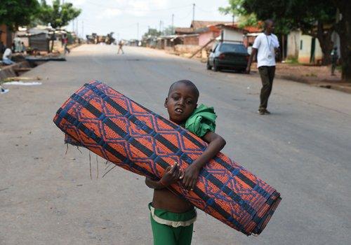 Des violences sectaires en République centrafricaine ont forcé... (Photo: AFP)