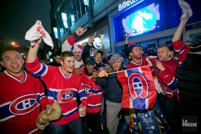 La série entre le Lightning et le Canadien... (Photo David Boily, La Presse)