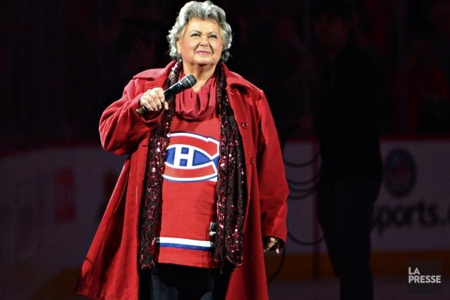 La grande Ginette Reno, nouvelle coqueluche des sportifs, termine sa tournée... (Photo: Bernard Brault, La Presse)