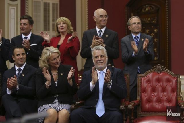 La formation du gouvernement de Philippe Couillard, annoncée... (PHOTO MARTIN CHAMBERLAND, LA PRESSE)