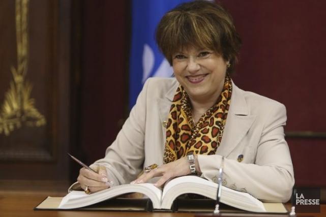 Hélène David, nouvelle ministre de la Culture.... (Photo: Martin Chamberland, La Presse)