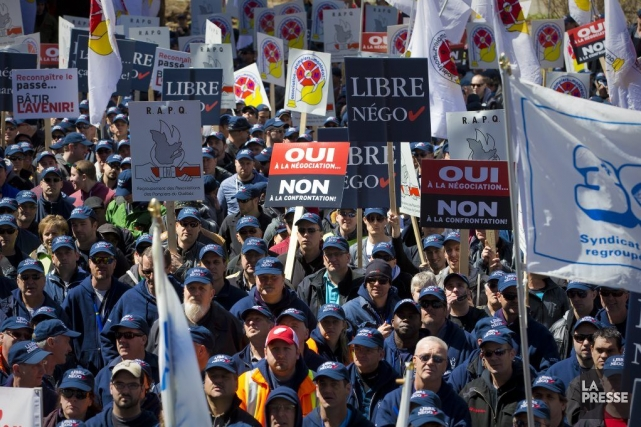 Ils étaient«entre 2000 et 3000», selon les organisateurs,... (Photo André Pichette, La Presse)