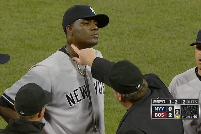 Le lanceur Michael Pineda a été expulsé de... (Associated Press)