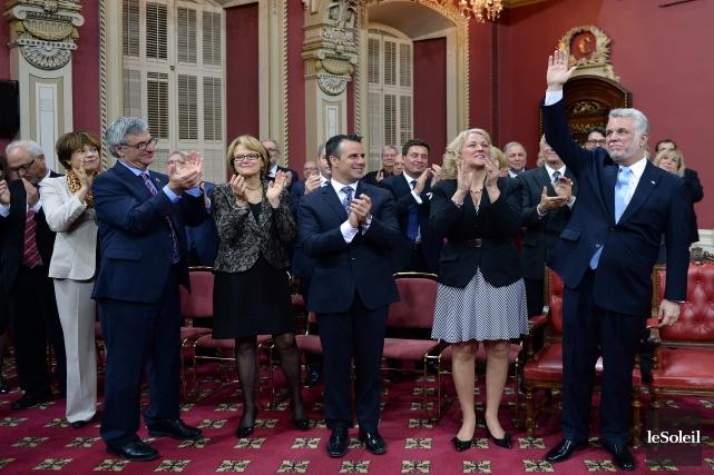 Le premier ministre, Philippe Couillard, a composé son conseil des ministres en... (Photo Erick Labbé, Le Soleil)