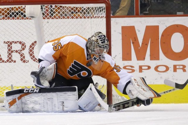 Le gardien des Flyers Steve Mason.... (Photo archives AP)