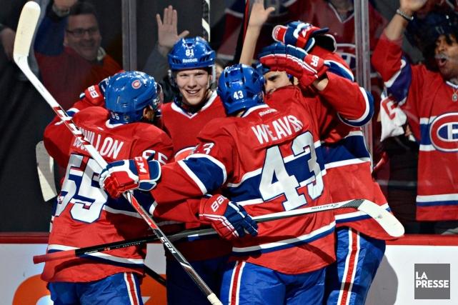 Le balayage en quatre rencontres du Canadien contre... (Photo Bernard Brault, La Presse)
