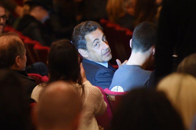 Nicolas Sarkozy à New York, le 24 avril.... (PHOTO EMMANUEL DUNAND,  AFP)