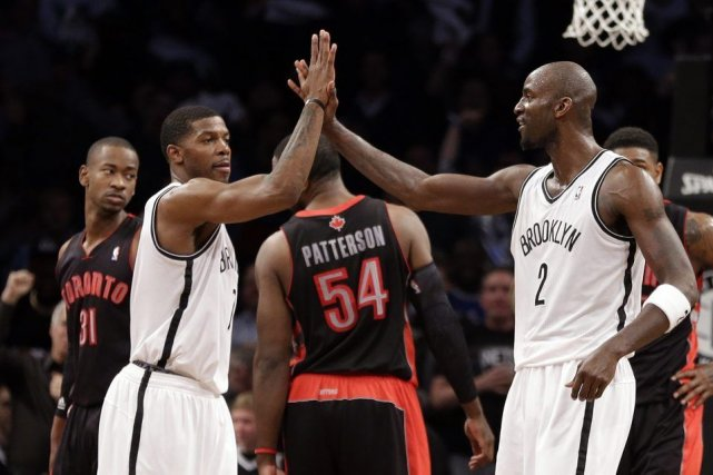 Les Nets de Brooklynont remporté leur deuxième victoire en trois matches face... (Photo AP)