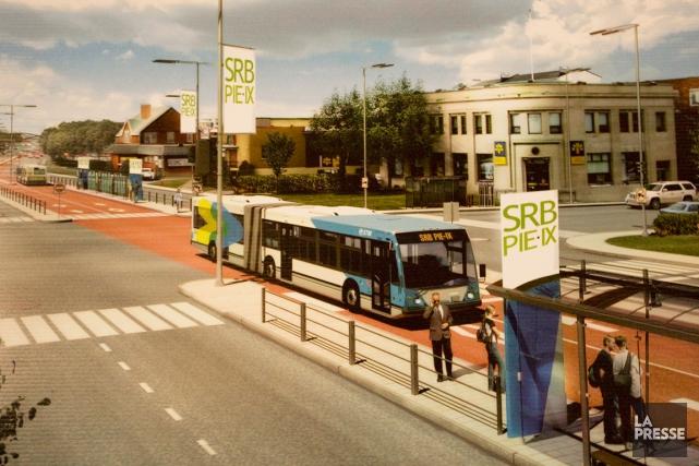 Le projet de service rapide par bus (SRB)... (Photo Ivanoh Demers, archives La Presse)