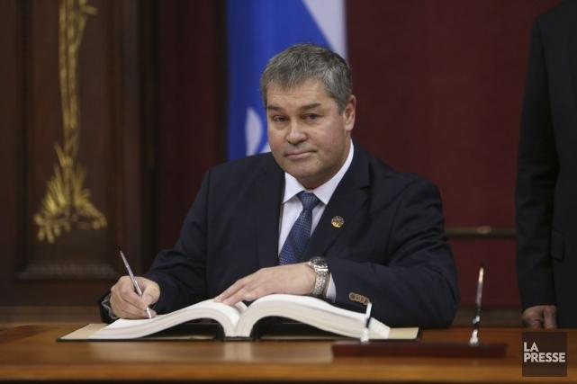 Yves Bolduc, le nouveau ministrede l'Éducation et celui... (Martin Chamberland, La Presse)