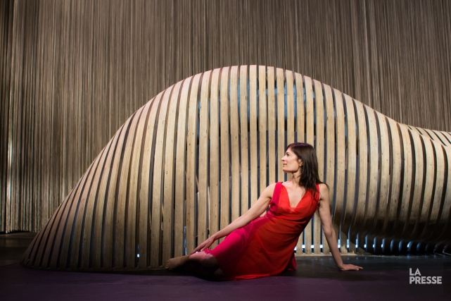 Anne-Marie Cadieux dans la pièce Molly Bloom... (PHOTO NINON PEDNAULT, LA PRESSE)