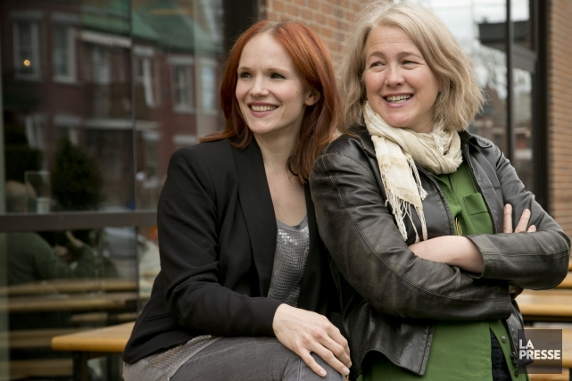 La comédienne Marianne Farley (à gauche) incarne une... (PHOTO DAVID BOILY, LA PRESSE)