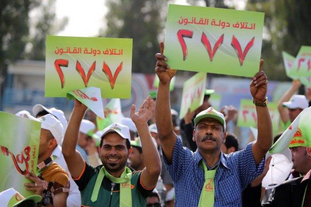 Les élections législatives, premier scrutin national organisé depuis... (PHOTO AHMAD AL-RUBAYE, AFP)