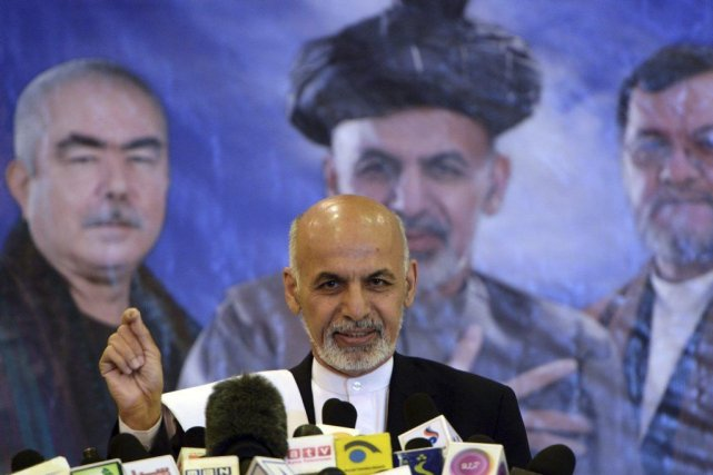M. Ghani totalise 31,5 % des voix au premier tour,... (PHOTO WAKIL KOHSAR, AFP)