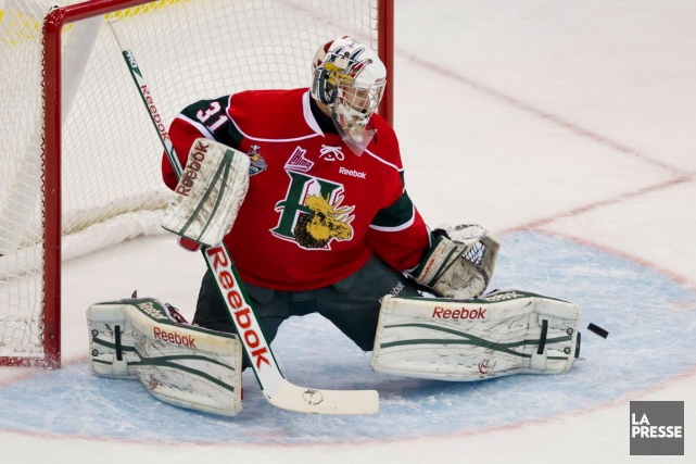 Zachary Fucale est assuré de vivre la Coupe Memorial... (Photo Liam Richards, archives PC)