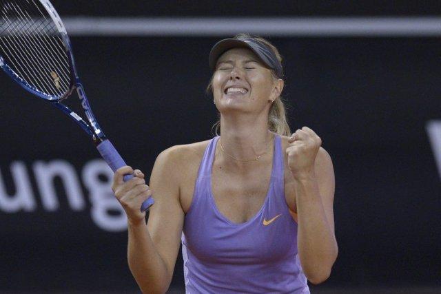 Maria Sharapova... (PHOTO THOMAS KIENZLE, AFP)