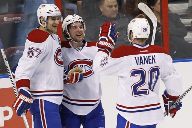 Thomas Vanek, David Desharnais et Max Pacioretty devront voir... (Photo: AP)