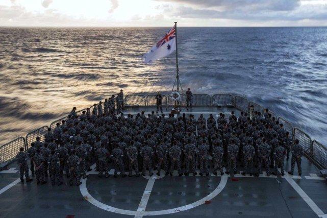Les troupes de la Marine australienne.... (Photo Reuters)