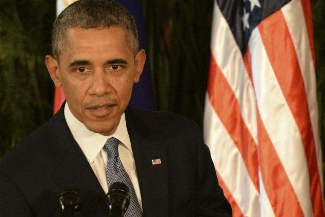 Barack Obama... (Photo Ted Aljibe, Agence France-Presse)