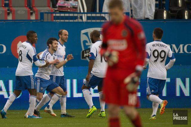 Le but de Felipe samedi contre l'Union de... (Photo Robert Skinner, La Presse)
