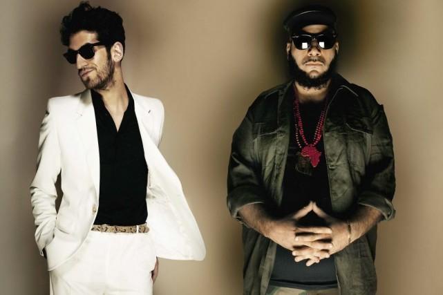 Les looks distincts des membres du duo arabo-juif... (Photo: archives The New York Times)