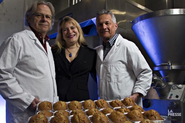 Gilles et Chantal Vaillancourt, ainsi que Jean-Pierre Gaumond,... (PHOTO OLIVIER JEAN, LA PRESSE)