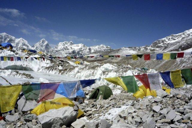 Le camp de base de l'Everest en 2009.... (Photo archives AFP)