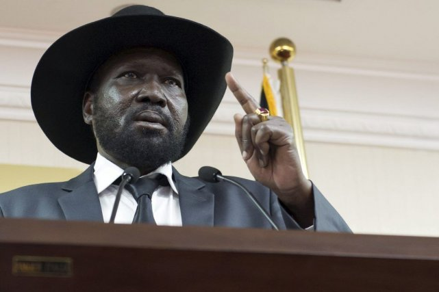 Le président du Soudan du Sud, Salva Kiir.... (Photo Charles Lomodong, archives Agence France-Presse)