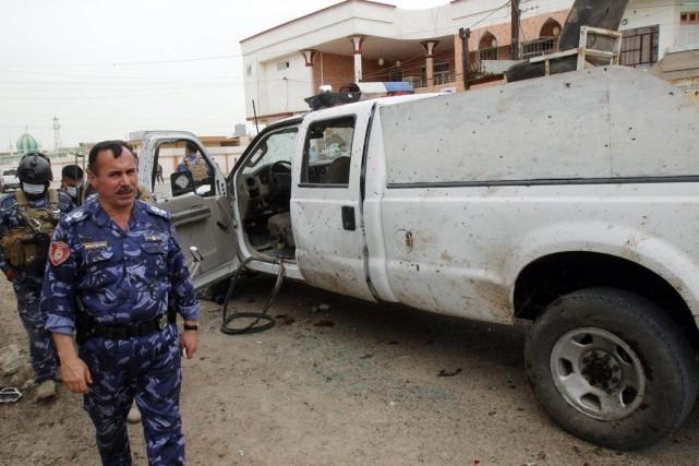 Un attentat suicide a fait 20 morts près... (Photo Ako Rasheed, Reuters)