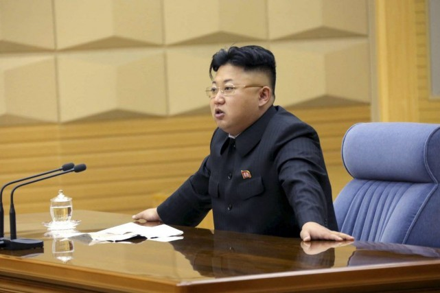 Le leadernord-coréen Kim Jong-Un.... (Photo archives AFP)