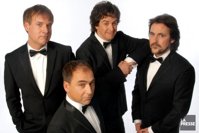 Les quatre compères de RBO, Bruno Landry, André... (Photo: Yves Renaud, archives Radio-Canada)