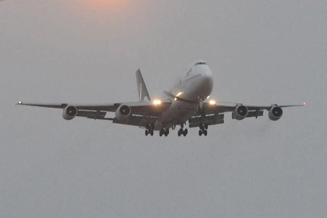 Un Boeing 747 de Pratt & Whitney, avec 14 personnes à bord, s'est posé... (Photo archives AFP)