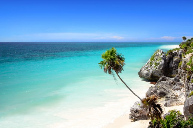 La plage de Tulum, près de Cancún.... (Photo Digital/Thinkstock)
