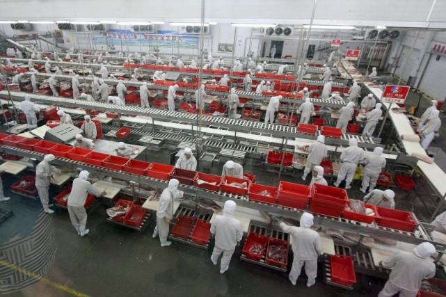 Une usine de transformation de la viande... (Photo REUTERS)