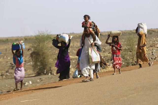 Plus d'un million de Sud-Soudanais ont été chassés... (PHOTO MOHAMED NURELDIN ABDALLAH)