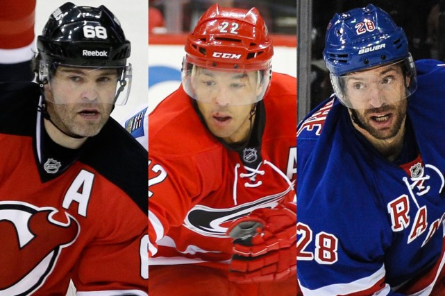 Jaromir Jagr, Manny Malhotra et Dominic Moore.... (Photos AP et USA Today)