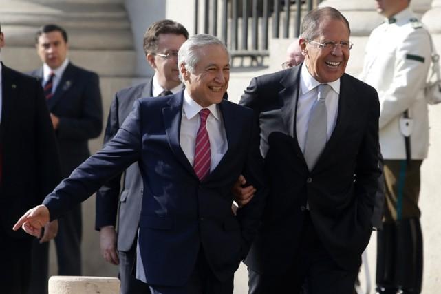 Sergueï Lavrov, le ministre russe des Affaires étrangères... (Photo: Reuters)