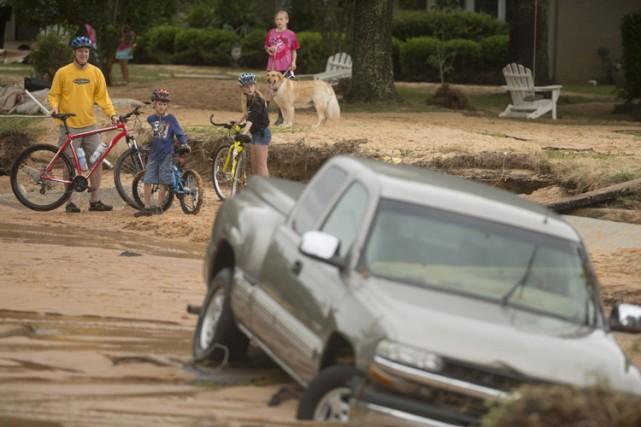 Pensacola, en Floride, estville la plus touchée au... (Photo: Reuters)