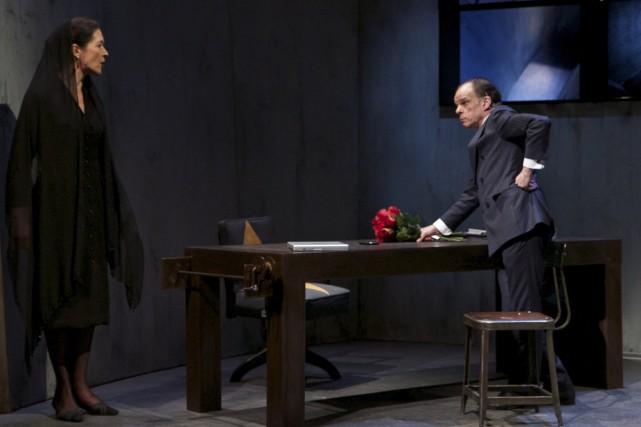 Dans le classique revisité de Racine, Andromaque (Monica... (Photo: Nicolas Descôteaux, fournie par le Théâtre Denise-Pelletier)