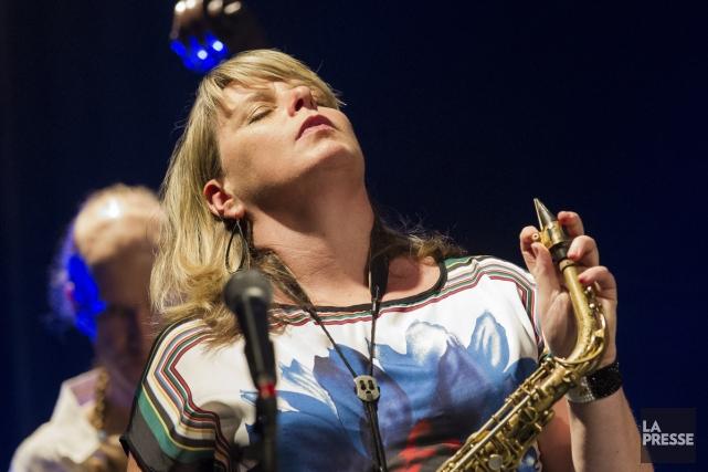 La saxophoniste Christine Jensen, lauréate du Juno 2014... (Photo: Édouard Plante-Fréchette, La Presse)