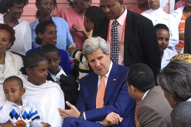 Le secrétaire d'État américain John Kerry est en... (Photo TIKSA NEGERI, REUTERS)