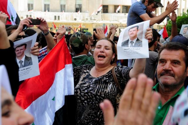 Bachar al-Assad devrait sans surprise remporter ce scrutin... (Photo LOUAI BESHARA, AFP)