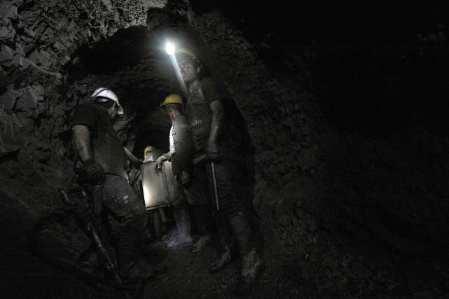 On compte 14 357 sites de production minière... (Photo GUILLERMO LEGARIA, AFP)