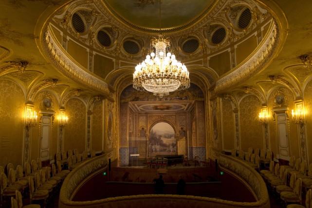 Le théâtre impérial de Fontainebleau... (Photo: AFP)