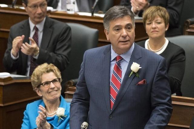 Le ministre des Finances CharlesSousa a aussi annoncé... (Photo Nathan Denette, PC)
