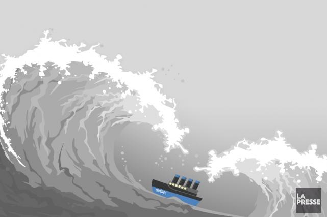 Malgré la tempête qui veille, les Québécois continuent... (Infographie La Presse)