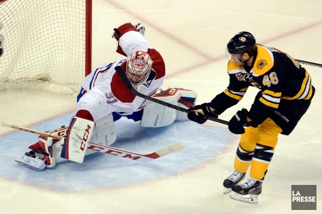 Carey Price a frustré les joueurs des Bruins,... (Photo Bernard Brault, La Presse)