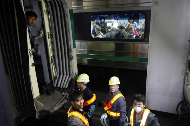 L'accident s'est produit autour de 15h30 (2h30, heure... (PHOTO KIM HONG-JI, REUTERS)