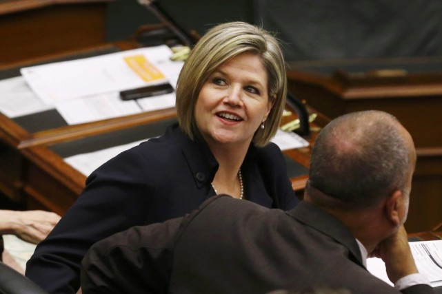 La chef du NPD ontarien, leader Andrea Horwath.... (PHOTO MARK BLINCH, REUTERS)