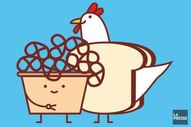 Pain sec, garniture quasi inexistante, choix limité: les repas servis en classe... (Illustration Julien Chung, La Presse)